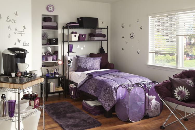 Bedroom ideas for college girl college dorm room for College student living room ideas