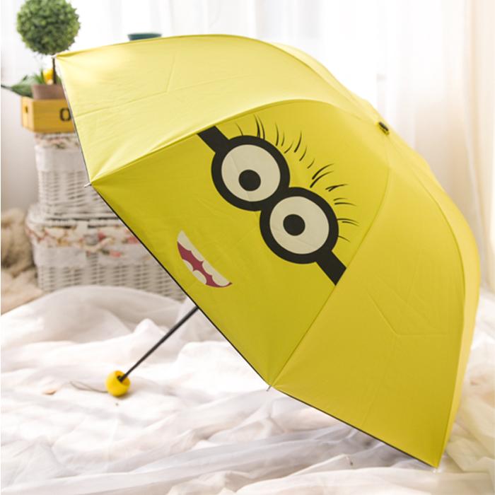 new-lovely-cartoon-minions-umbrella-for-kids-girl-sweet-umbrella-baby-white-umbrella-with-bow-free