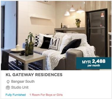 kuala lumpur accommodation student hostel rent room cheap city centre bangsar bukit jalil kl