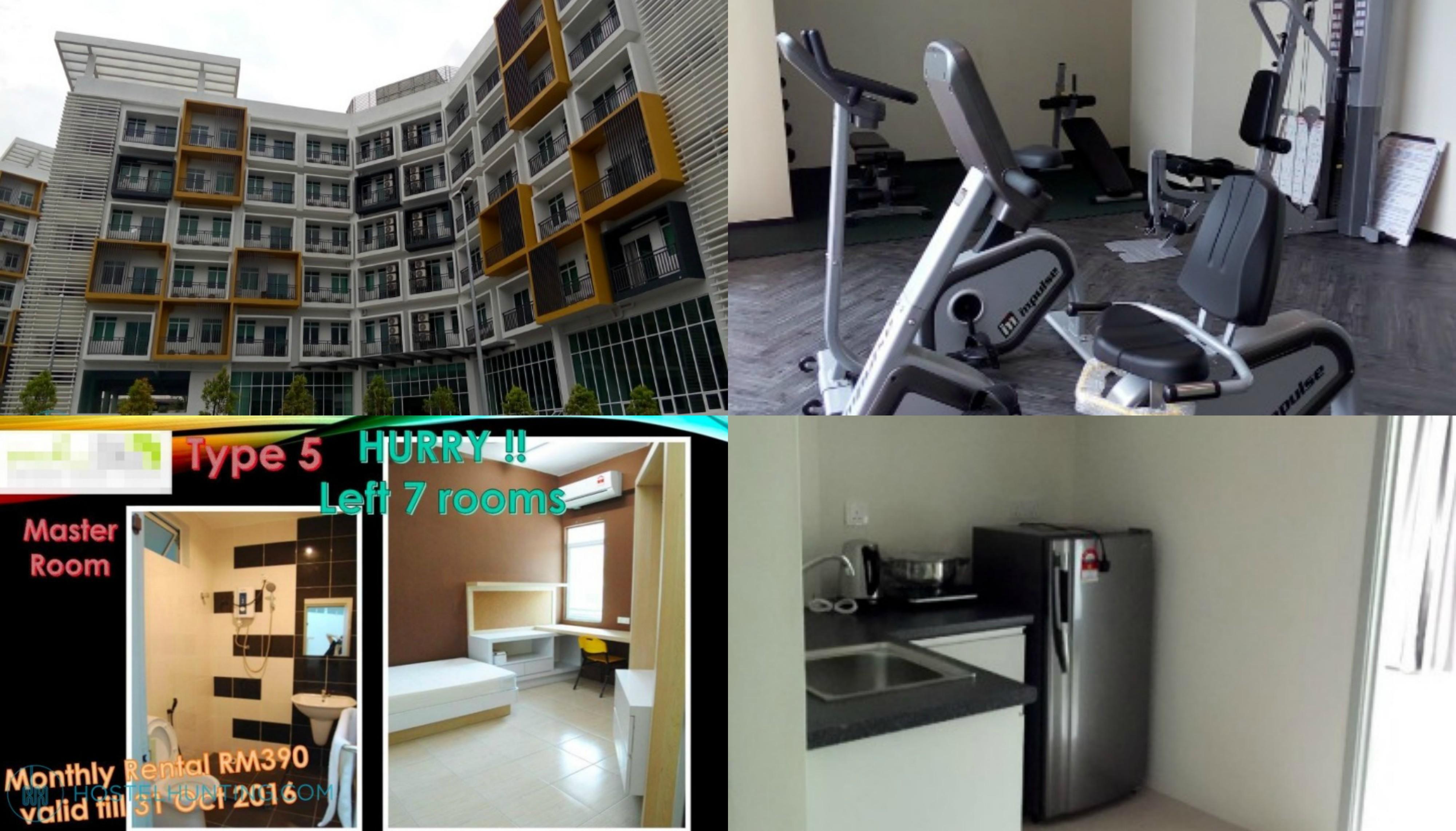 mh-unilodge kampar students accommodation hostel room rent