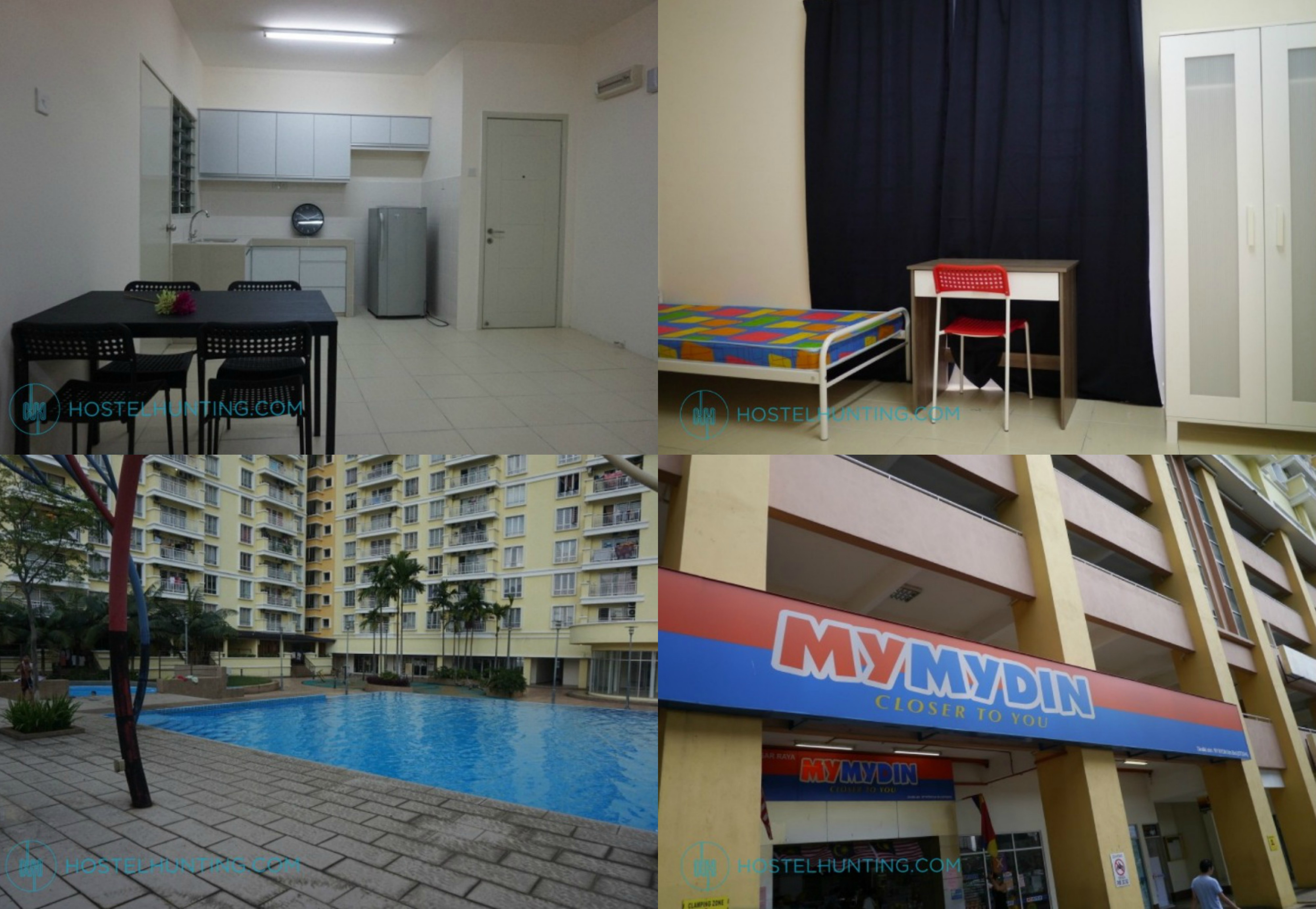 pv12 setapak taruc student room for rent accommodation hostel stay cheap kuala lumpur